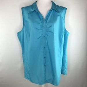 White Stag Womens Shirt Top Blouse Size 4X
